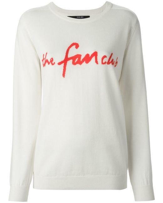 Sibling | White 'the Fan Club' Sweater | Lyst