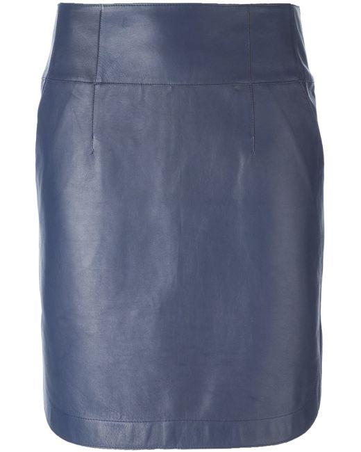 jil sander navy high waist skirt in blue lyst