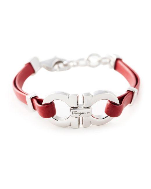 Ferragamo | Metallic Gancini Bracelet | Lyst
