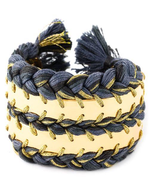 Aurelie Bidermann   Metallic Brasil Chain Plait Bracelet   Lyst