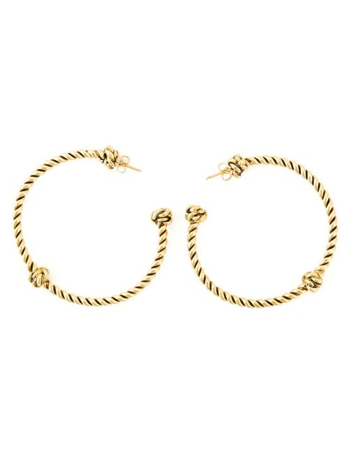 Aurelie Bidermann | Metallic 'palazzo' Hoop Earrings | Lyst
