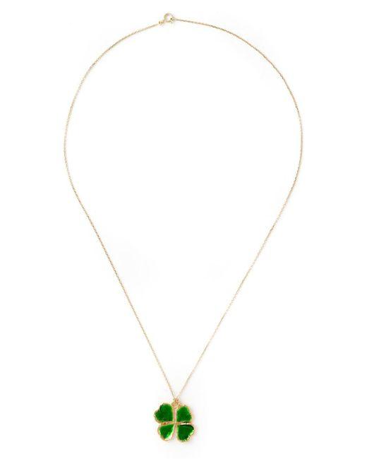 Aurelie Bidermann | Green Mini 'clover' Necklace | Lyst