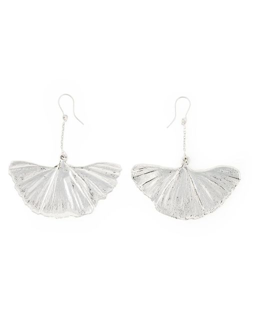 Aurelie Bidermann | Metallic Ginkgo Earrings | Lyst