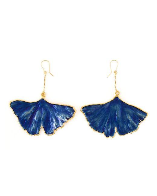 Aurelie Bidermann | Blue 'ginkgo' Earrings | Lyst