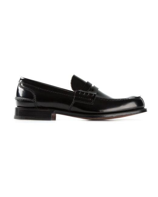 Church's | Black 'pembrey' Loafers for Men | Lyst