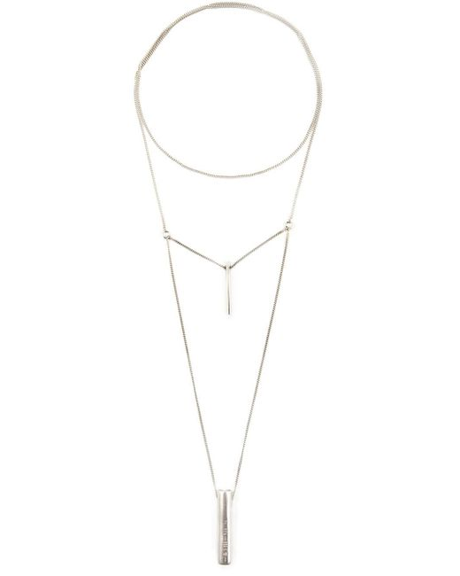 1-100 | Metallic '79' Necklace | Lyst