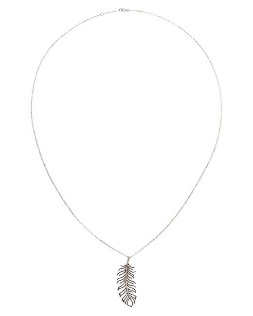 Rosa De La Cruz | Metallic Diamond Feather Necklace | Lyst