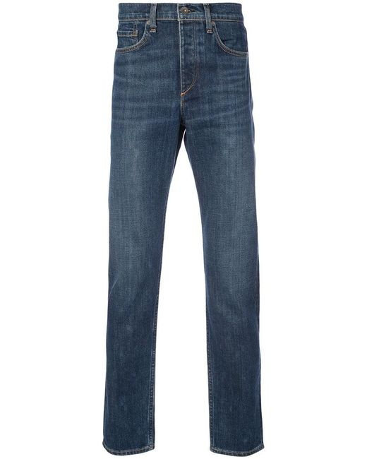 Rag & Bone - Blue Vaqueros rectos for Men - Lyst