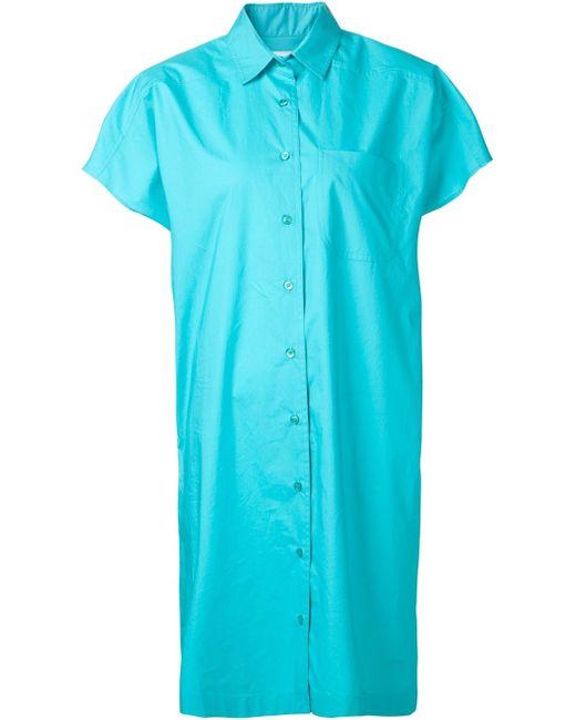Moschino | Blue Shirt Dress | Lyst