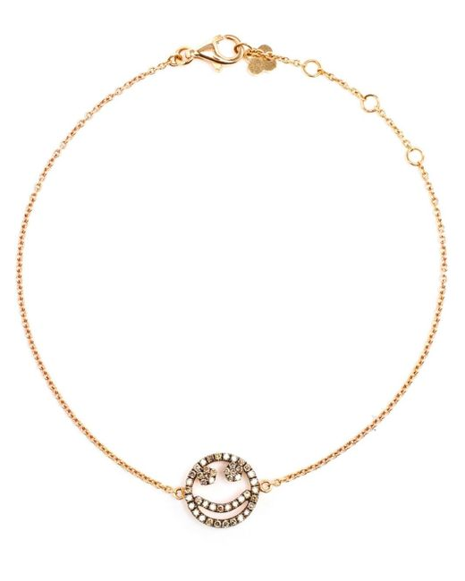 Rosa De La Cruz | Metallic Diamond Smiley Face Charm Bracelet | Lyst
