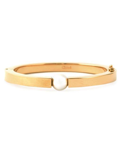 Chloé | Metallic Chloé 'darcey' Pearl Bracelet | Lyst