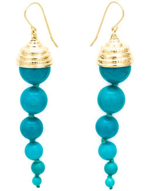 Aurelie Bidermann | Metallic Long 'lakotas' Earrings | Lyst