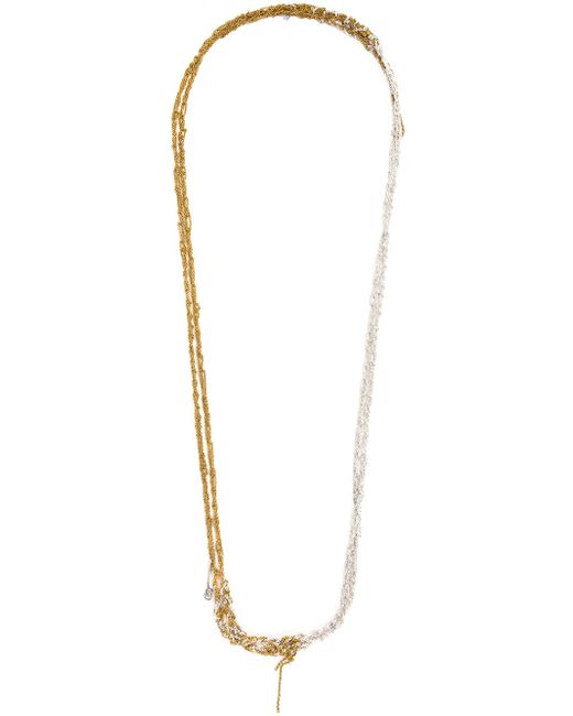 Arielle De Pinto | Metallic One Strand Chain Necklace | Lyst
