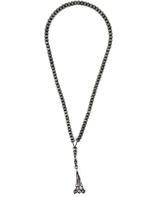 Monan | Black Woven Beads Necklace | Lyst