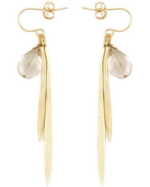 Wouters & Hendrix | Metallic 'bamboo' Rutilated Quartz Earrings | Lyst