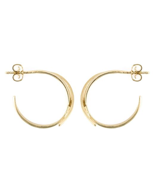 Wouters & Hendrix | Metallic 'bamboo' Hoop Earrings | Lyst