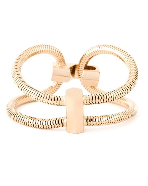 Lara Bohinc | Metallic 'schumacher' Double Bracelet | Lyst