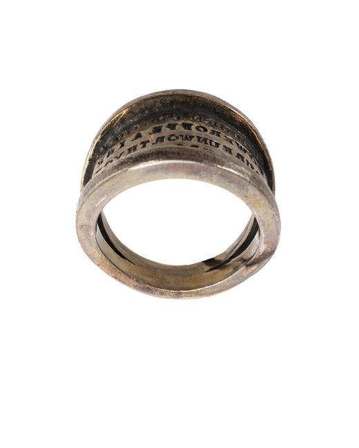 Tobias Wistisen | Metallic 'script Plate' Ring for Men | Lyst