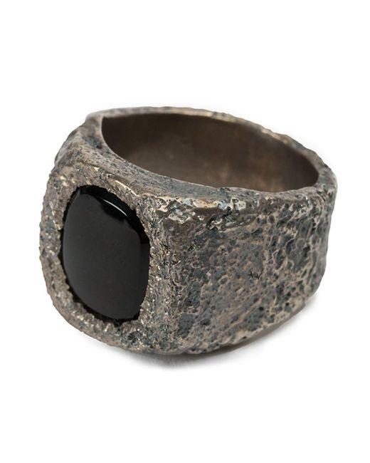 Tobias Wistisen   Metallic 'leather Stone' Ring for Men   Lyst