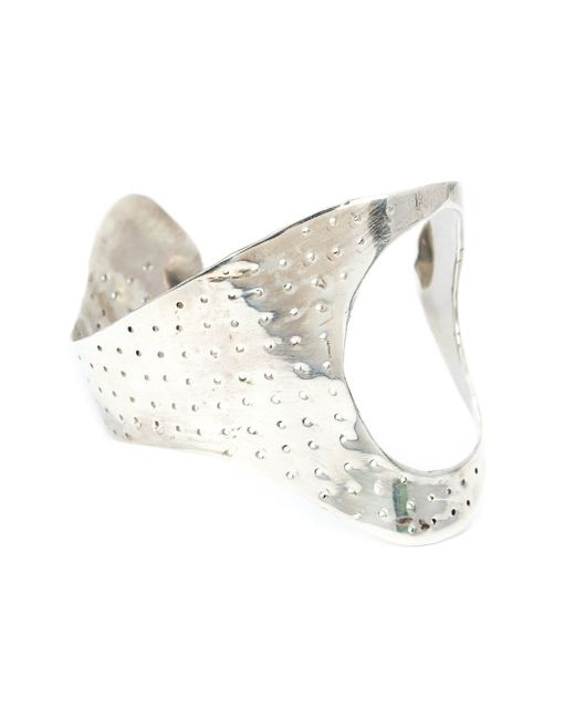 Y. Project | Metallic Perforated Hand Cuff | Lyst