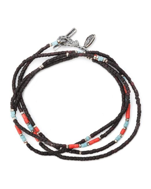 M. Cohen | Black Thin Beaded Bracelet for Men | Lyst
