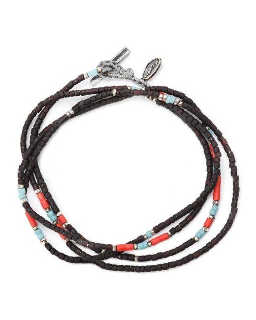 M. Cohen | Black Thin Beaded Bracelet for Men | Lyst