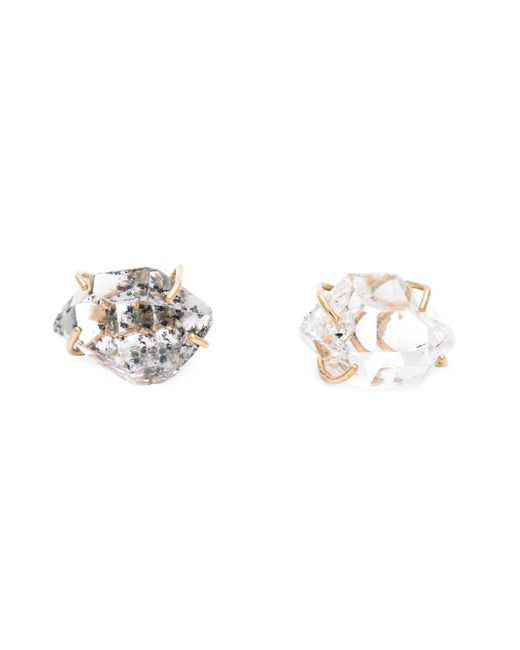 Melissa Joy Manning | Metallic Caged Herkimer Diamond Earrings | Lyst