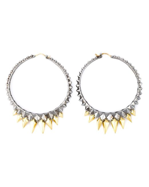Stephen Webster | Metallic Studded Hoop Earrings | Lyst