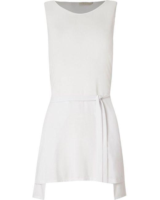Giuliana Romanno | White Plain Wrap Fastening Blouse | Lyst