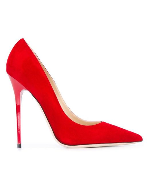 Jimmy Choo - Red 'anouk' Pumps - Lyst