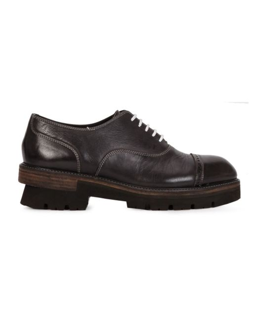 Miharayasuhiro | Black Stacked Effect Oxfords for Men | Lyst