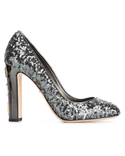 Dolce & Gabbana | Gray Vally Sequined Pumps | Lyst