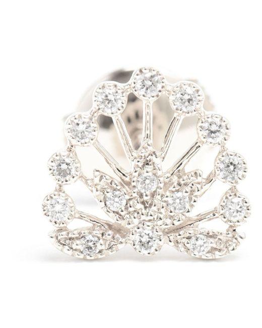 Yvonne Léon | White Diamond Foliage Stud Earring | Lyst
