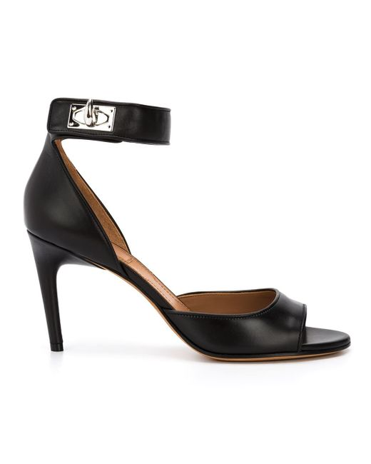 Givenchy | Black - 'shark' Sandals - Women - Leather - 37 | Lyst
