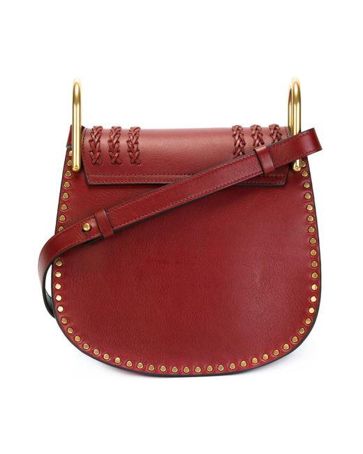 chlo 39 hudson 39 shoulder bag in red lyst. Black Bedroom Furniture Sets. Home Design Ideas