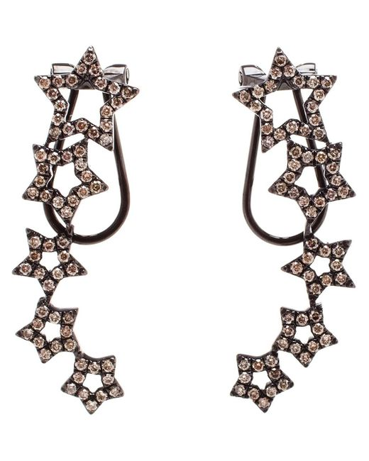 Rosa De La Cruz | Black Diamond Star Earrings | Lyst