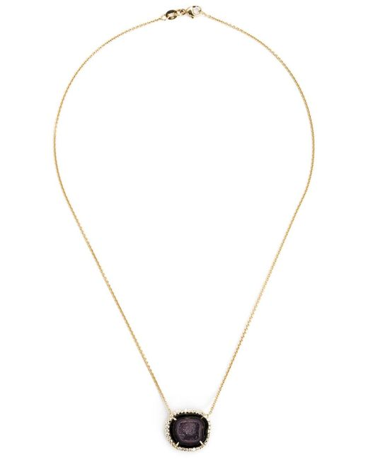 Kimberly Mcdonald | Metallic Geode And Diamond Pendant Necklace | Lyst