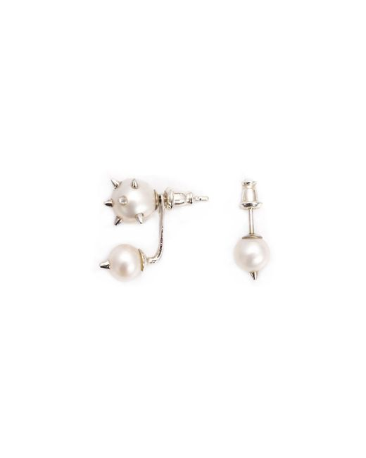 Nektar De Stagni | Metallic Spike Pearl Earrings | Lyst