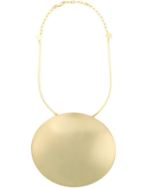 Carven | Metallic Round Plaque Necklace | Lyst
