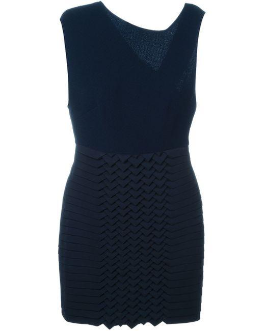 Jay Ahr | Blue Origami Panel Dress | Lyst
