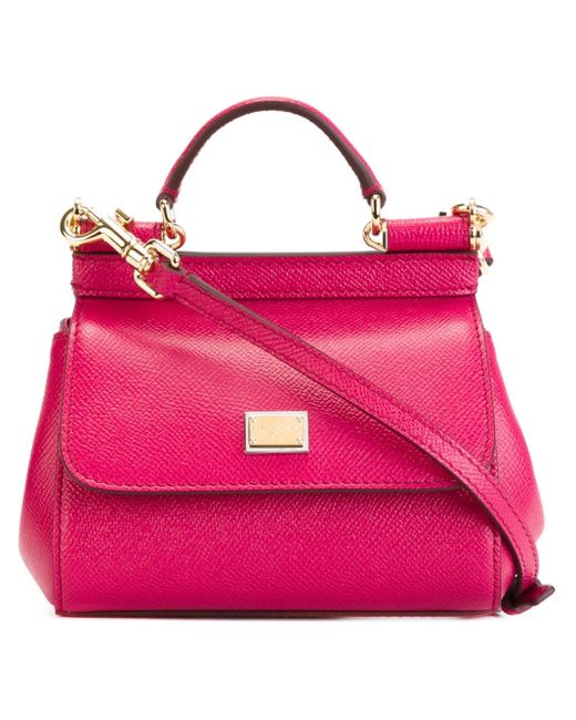 Dolce & Gabbana   Pink - Mini 'sicily' Tote - Women - Calf Leather - One Size   Lyst