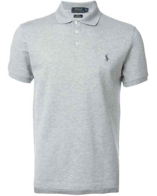 Polo Ralph Lauren   Gray Logo Polo Shirt for Men   Lyst
