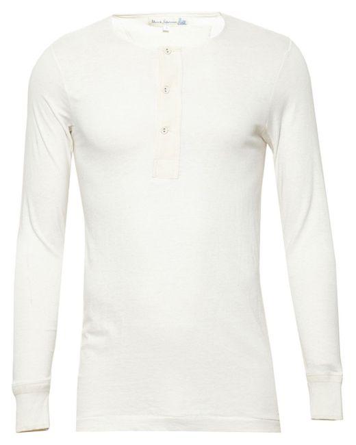 Merz B. Schwanen | White Henley T-shirt for Men | Lyst