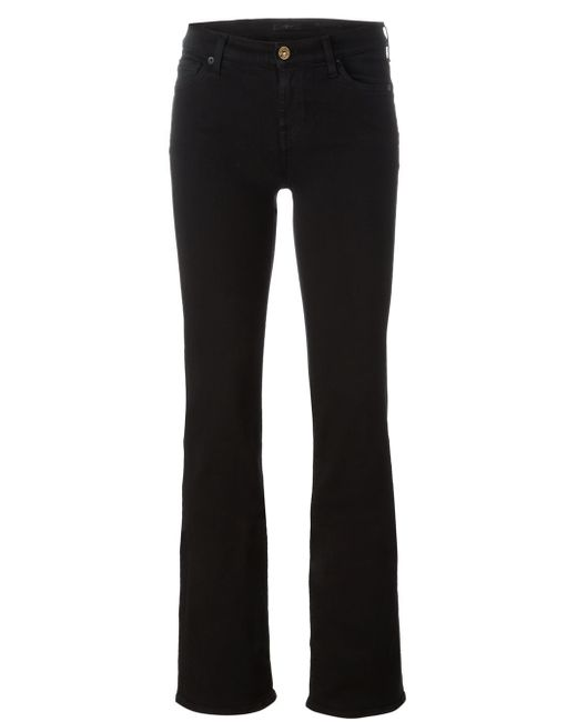 7 For All Mankind | Black Slim Bootcut Jeans | Lyst
