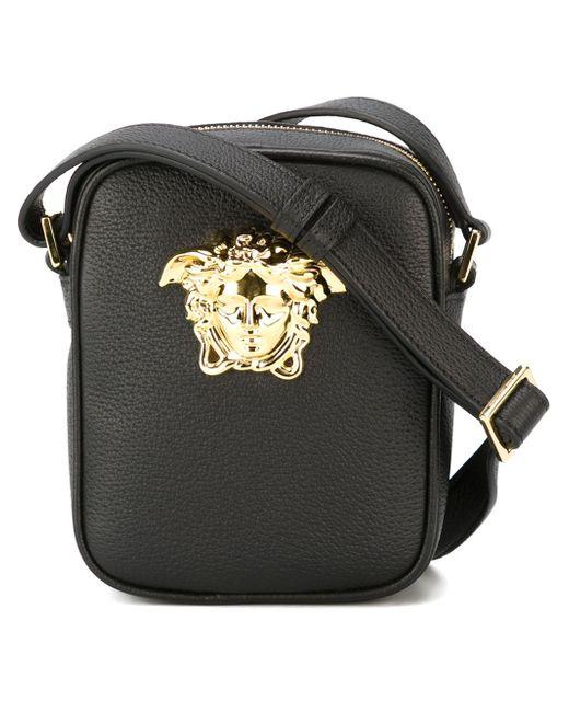 Versace Medusa Messenger Bag In Black For Men Lyst