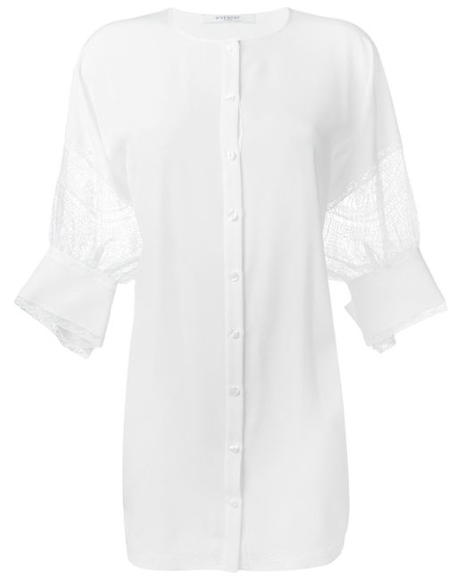 Givenchy | White Floral Lace Detail Lose Tunic | Lyst