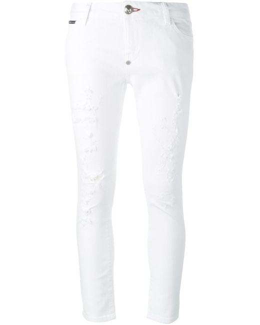 Philipp plein 'democratic' Jeans in White