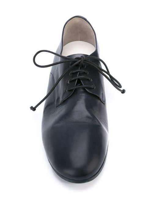mars 232 ll stacked heel derby shoes in blue for lyst