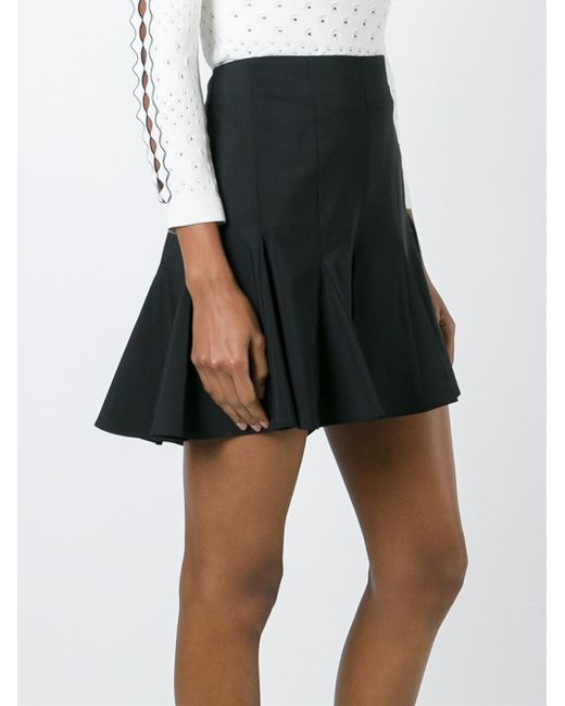 opening ceremony pleated hem a line skirt in black lyst