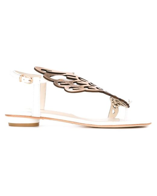Sophia Webster | White Seraphina Leather Sandals | Lyst